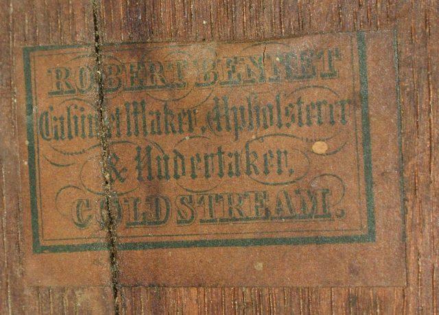 Robert Bennet Gypsy Table Label
