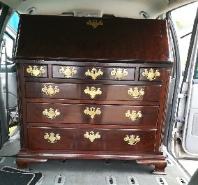 Mahogany Bureau in Car