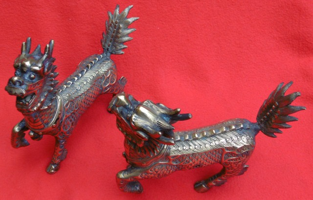 Brass Lion Dogs